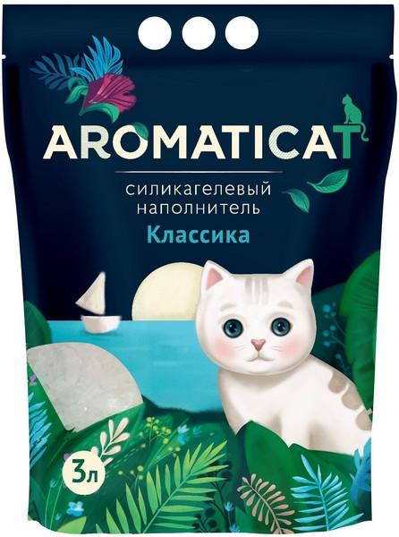 AromatiCat / Наполнитель Ароматикэт для кошачьего туалета Силикагелевый Классика