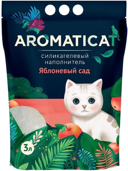 AromatiCat / Наполнитель Ароматикэт для кошачьего туалета Силикагелевый Яблоневый сад