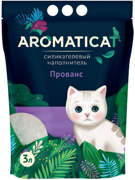AromatiCat / Наполнитель Ароматикэт для кошачьего туалета Силикагелевый Прованс