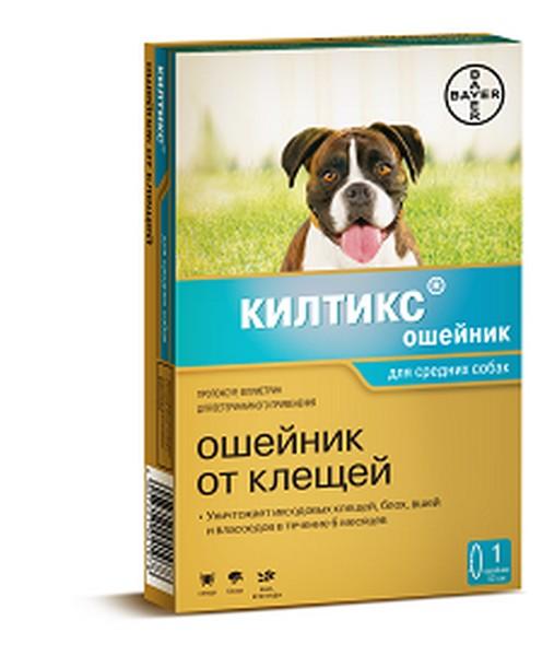 Bayer Килтикс / Ошейник от Клещей для собак Средних пород