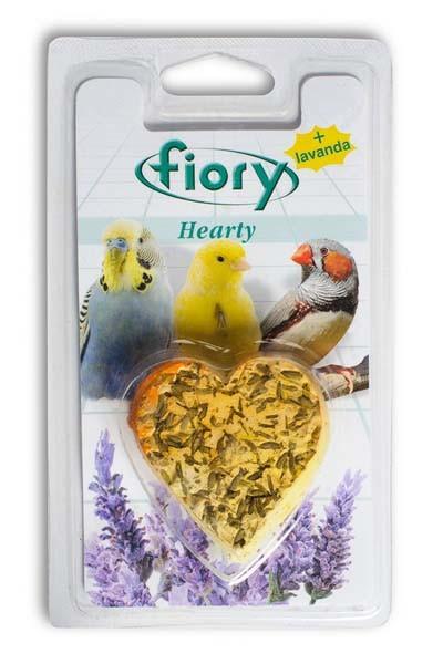 Fiory Hearty / Био-камень Фиори для птиц с Лавандой в форме сердца
