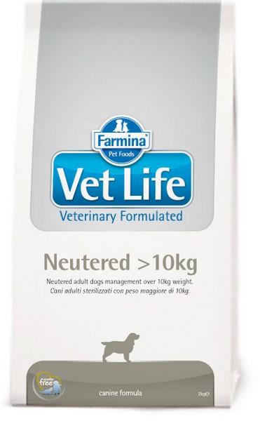 Farmina Vet Life Neutered 10+ / Лечебный корм Фармина для кастрированных или стерилизованных собак массой более 10 кг, профилактика МКБ