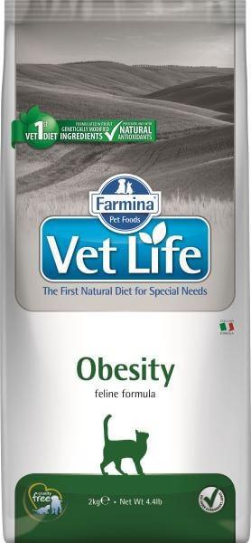 Farmina Vet Life Obesity / Лечебный корм Фармина для кошек при Ожирении, подходит для питания Стерилизованных животных