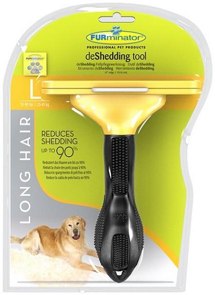 FURminator Long Hair Large Dog / Фурминатор для Собак Крупных Длинношерстных пород 10 см