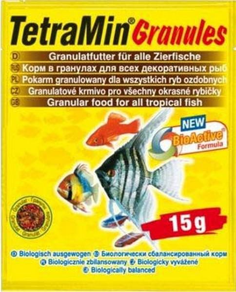 Tetra Min Granules / Корм Тетра для всех видов рыб в гранулах 15 г (sachet)