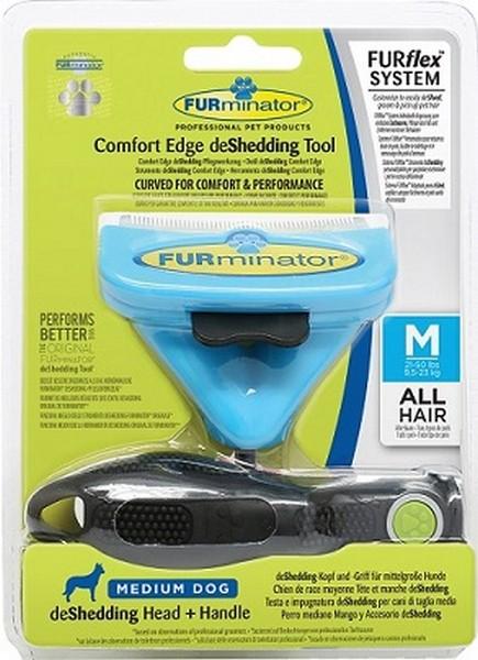 FURminator FURflex Comfort Edge deShedding Tool Medium Dog / Комплект Фурминатор Фурфлекс против Линьки для Средних собак
