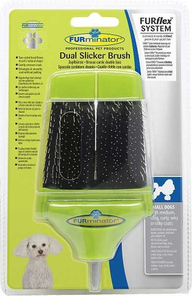FURminator FURflex Dual Slicker Brush / Насадка Фурминатор Фурфлекс Пуходерка Маленькая