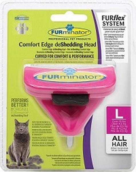 FURminator FURflex Comfort Edge deShedding Head Large Cat / Насадка Фурминатор Фурфлекс против Линьки для Больших кошек