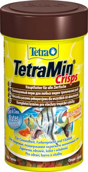 Tetra Min Pro Crisps / Корм Тетра-чипсы для всех видов рыб 100 мл