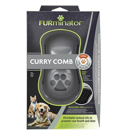 FURminator Curry Comb / Расческа Фурминатор Резиновая зубцы 5 мм