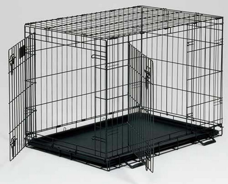MidWest Life Stages Double Door Dog Crate / Клетка Мидвест 2 двери Черная