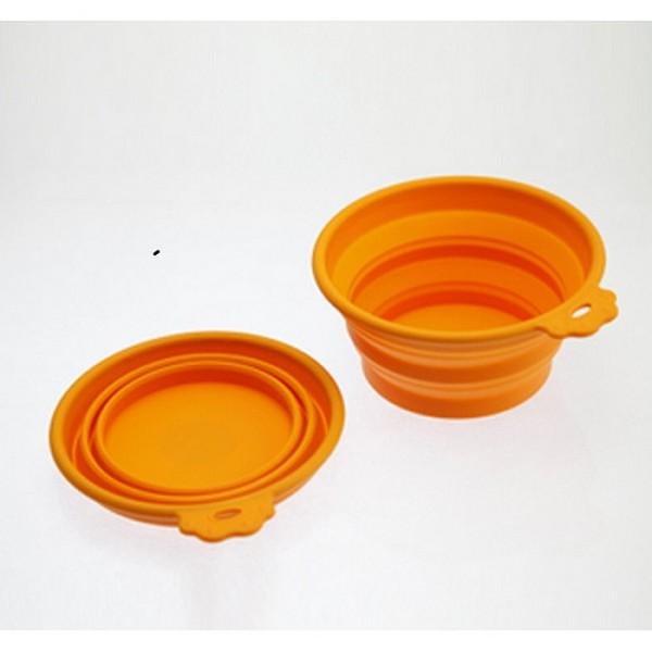 SuperDesign / Миска Супер Дизайн Складная cиликоновая Оранжевая
