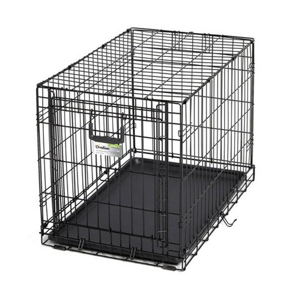 MidWest Ovation Single Door Crate / Клетка Мидвест с торцевой вертикально-откидной дверью Черная
