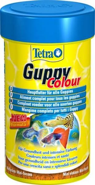 Tetra Guppy Colour / Корм Тетра для гуппи для улучшения окраса 100 мл