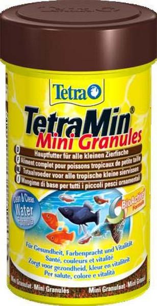 Tetra Min Mini Granules / Корм Тетра в mini гранулах для молоди и мелких рыб 100 мл