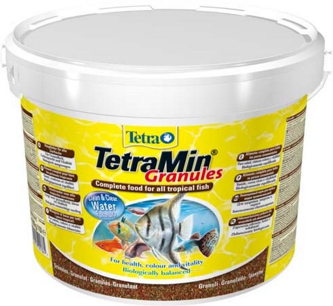 Tetra Min Granules / Корм Тетра для всех видов рыб в гранулах 10 л (ведро)