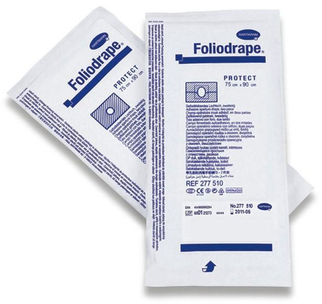 Hartmann Foliodrape Protect / Простыни Хартман 2-х слойные Адгезивные Стерильные 1шт