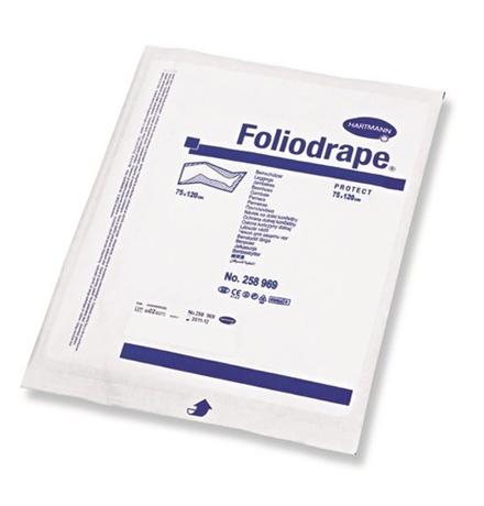 Hartmann Foliodrape Protect / Простынь Хартман 2-слойная Адгезивная Стерильная 1 шт