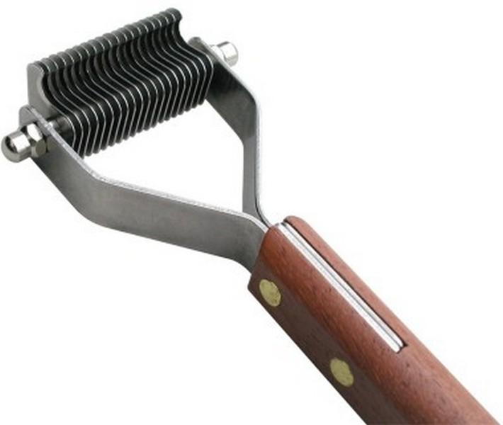 Show Tech / Стриппинг Шоу Тех с деревянной ручкой для очень мягкой шерсти 20 ножей