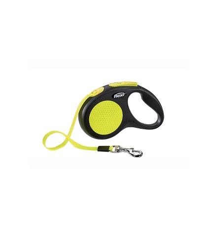 Flexi New Neon L / Флекси рулетка для собак весом до 50 кг Лента 5 м