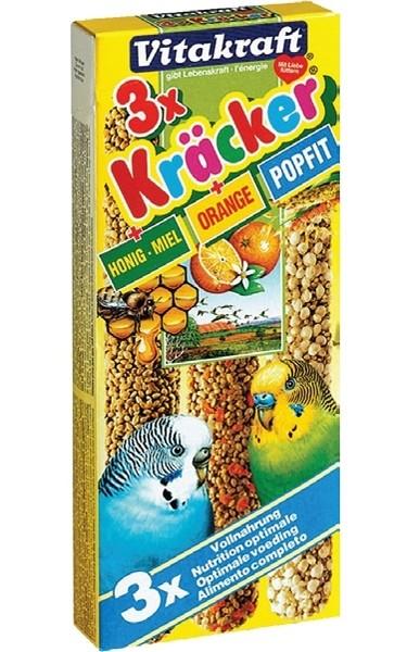 Vitakraft / Крекеры Витакрафт для Волнистых попугаев Мед Кукуруза Апельсин