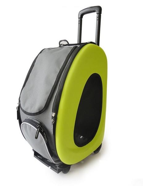 Ibiyaya / Складная Сумка-тележка 3в1 Ибияя для собак весом до 8 кг Многофункциональная (сумка, рюкзак, тележка)