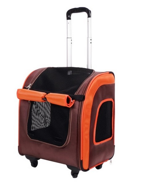 Ibiyaya Liso / Тележка-трансформер Ибияя для животных весом до 10 кг Коричневая/оранжевая