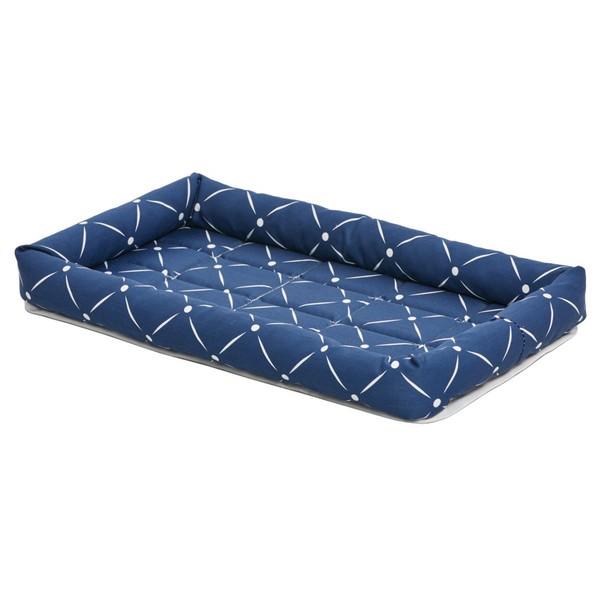 MidWest QuietTime Couture Ashton Bolster Bed / Лежанка Мидвест для собак Синяя