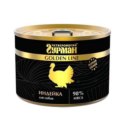 Четвероногий Гурман Golden Line / Консервы Золотая линия для собак Индейка натуральная в желе (цена за упаковку)