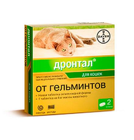 Bayer Дронтал / Таблетки от Гельминтов для кошек