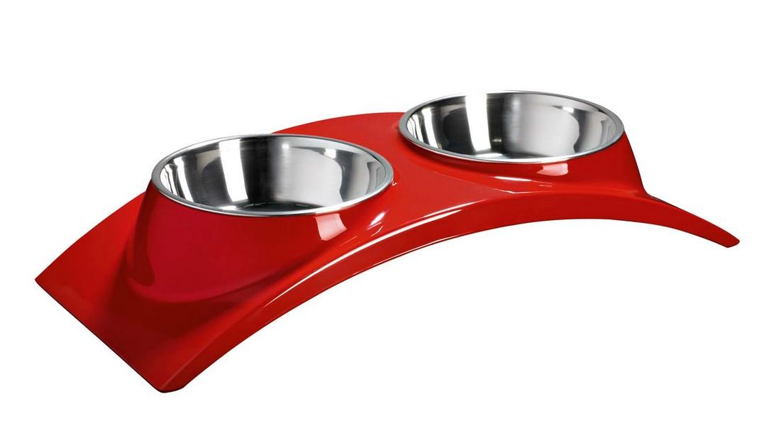SuperDesign Элеганс / Миска Супер Дизайн на меламиновой подставке Двойная 2 х 160 мл
