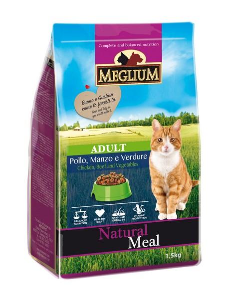 Meglium Adult Beef Chicken Vegetables / Сухой корм Меглиум для кошек Говядина Курица Овощи