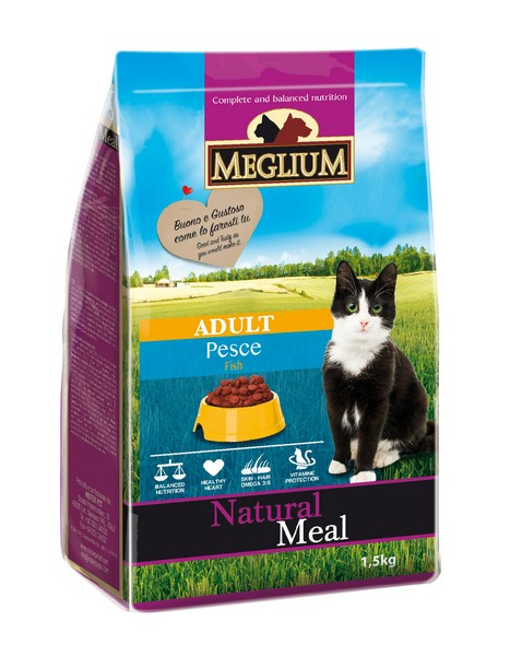 Meglium Adult Fish / Сухой корм Меглиум для кошек с Чувствительным пищеварением Рыба