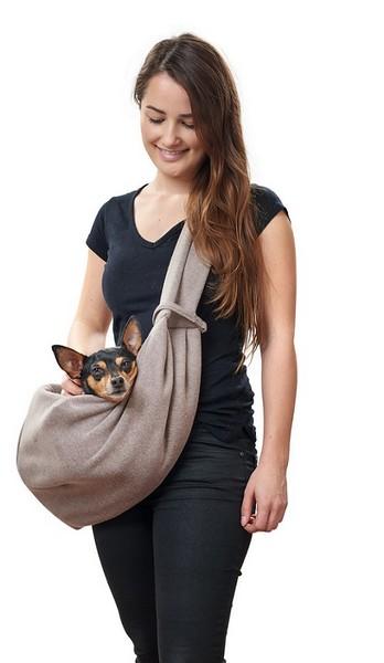 Hunter Los Angeles слинг для собак Бежевый/Серый