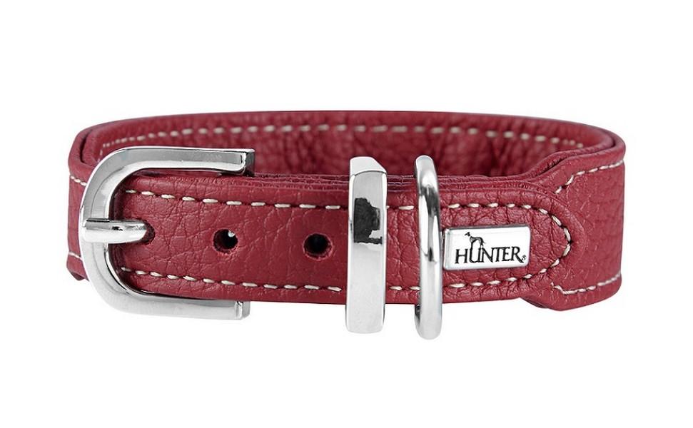 Hunter Cannes Mini ошейник для собак натуральная кожа Бордовый