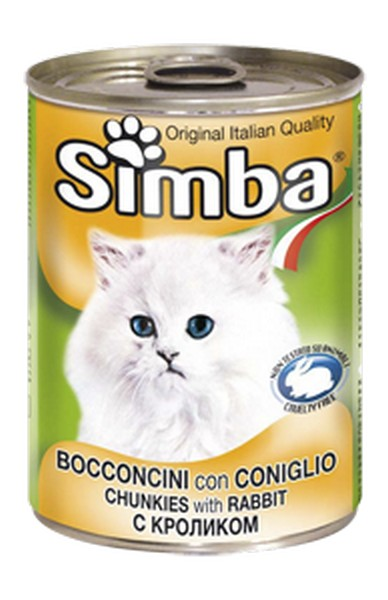 Simba Chunkies with Rabbit / Консервы Симба для кошек Кролик (цена за упаковку)