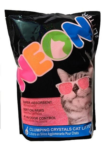 Neon Litter Наполнитель для кошачьего туалета Силикагелевый Комкующийся Розовый