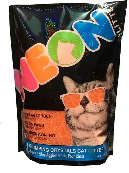 Neon Litter Наполнитель для кошачьего туалета Силикагелевый Комкующийся Оранжевый