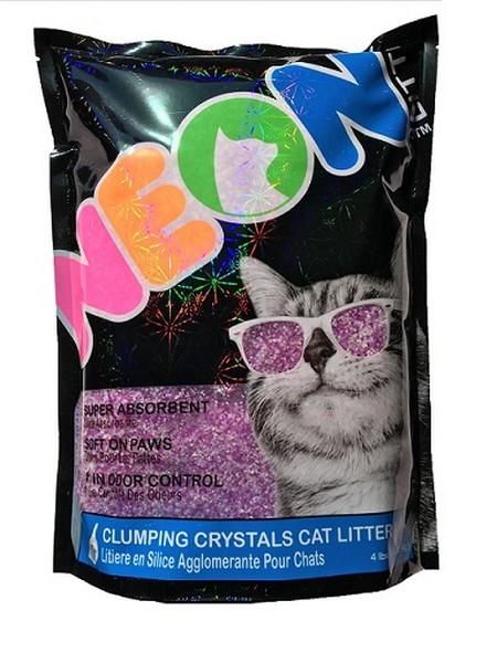Neon Litter Наполнитель для кошачьего туалета Силикагелевый Комкующийся Фиолетовый
