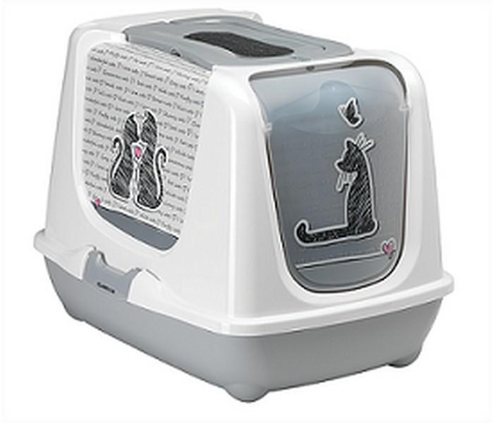 Moderna Cats in Love / Био-туалет Модерна для кошек с совком Серый