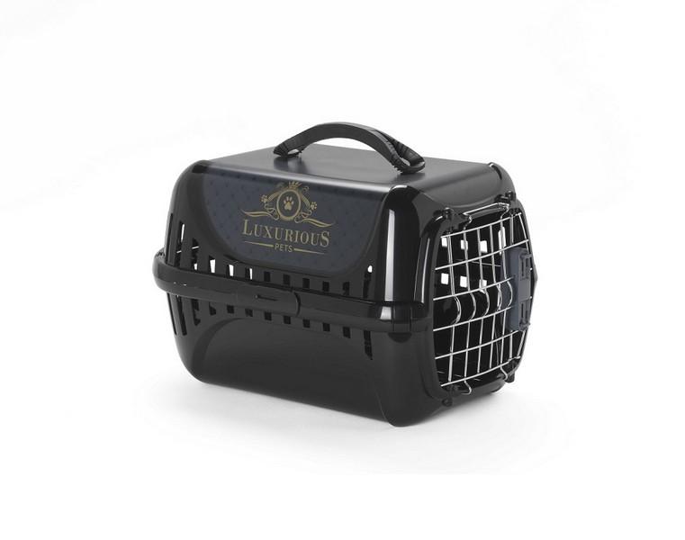 Moderna Luxurious / Переноска Модерна с металлической дверцей Черная
