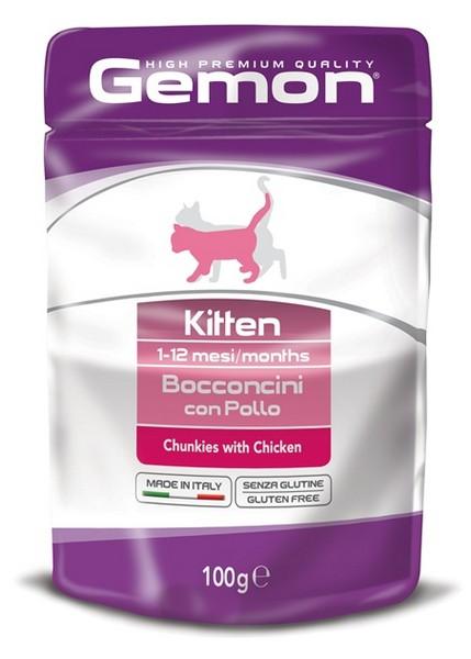 Gemon Kitten Chunkies Chicken / Паучи Джимон для Котят кусочки Курицы (цена за упаковку)