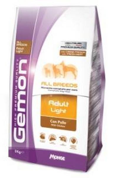 Gemon Adult Light / Сухой корм Джимон Низкокалорийный для взрослых собак всех пород