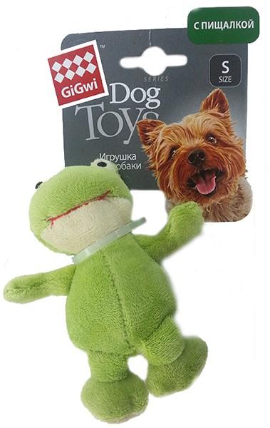 GiGwi Dog Toys / Игрушка Гигви для собак Лягушка с пищалкой