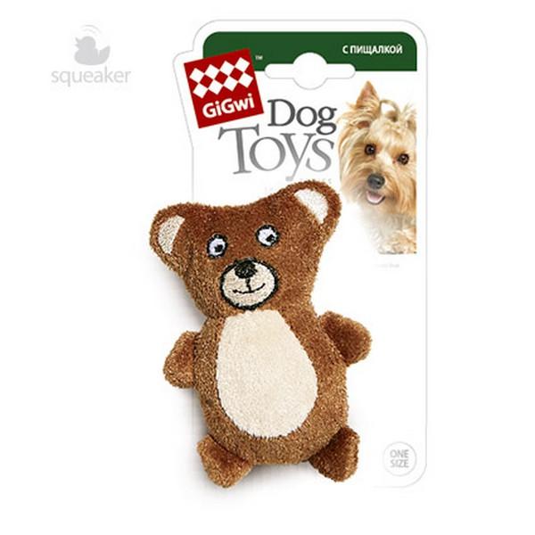 GiGwi Dog Toys / Игрушка Гигви для собак Мишка с пищалкой