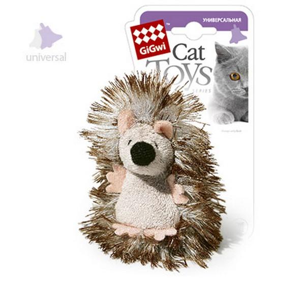 GiGwi Cat Toys / Игрушка Гигви для кошек Ёжик с погремушкой