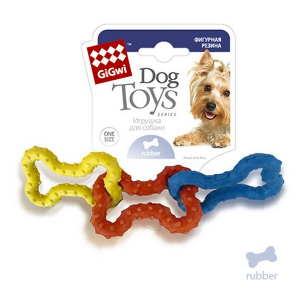 GiGwi Dog Toys / Игрушка Гигви для собак 3 резиновых косточки