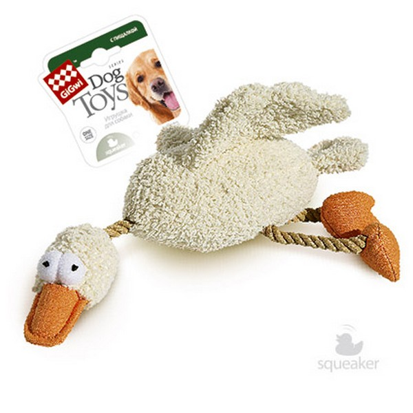 GiGwi Dog Toys / Игрушка Гигви для собак Утка с 2 пищалками
