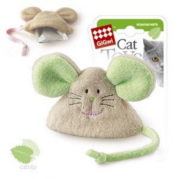 GiGwi Cat Toys / Игрушка Гигви для кошек Мышка с Кошачьей мятой
