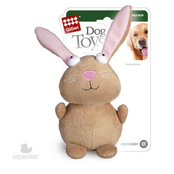 GiGwi Dog Toys / Игрушка Гигви для собак Кролик с пищалкой